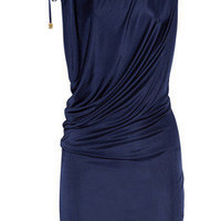 Roberto Cavalli | Draped satin-jersey dress | NET-A-PORTER.COM