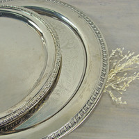 Vintage Silver Plated Serving Trays Made In Italy by jacquierae