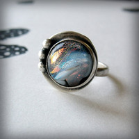 Galaxy Jewelry Sterling Silver and Dichroic by AndewynDesigns