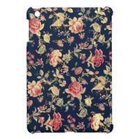 Elegant Vintage Floral Rose iPad Mini Case from Zazzle.com