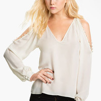 Parker Open Shoulder Silk Blouse | Nordstrom