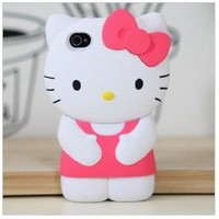 Dream Skin 3d Hello kitty Silicone super cute for your unique iphone 5 case cover