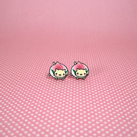 Nyan Nyan Nyanko - Nyan Cat Peach Small Stud Earrings