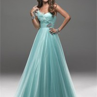 Graceful Ball Gown Sweetheart With Beadings and Feathers Prom Dress PD2163