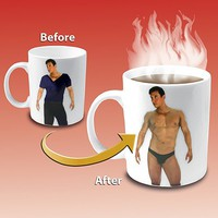 Disappearing Shirt Mug