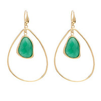 Marcia Moran Organic Green Agate Earrings | Rain Collection