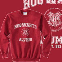AWN03 - Hogwarts Alumni est 993 Unisex Sweatshirt Color Deep Red