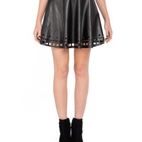 Square Trail Leather Skirt - 2020AVE