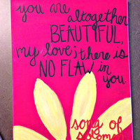 Song of Solomon Bible Verse canvas