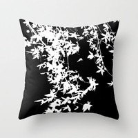white on black Throw Pillow by ingz | Society6