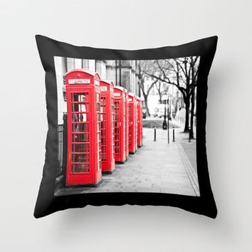 Vintage Red  Throw Pillow by secretgardenphotography [Nicola] | Society6
