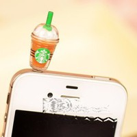 Cyprustech - Hot New Starbucks Coffee Style 3.5mm Headphone Anti-dust Plug Cap for Iphone 4 4S Samsu