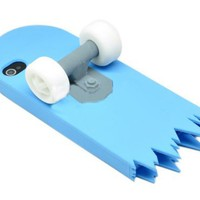Skyblue 3D Skateboard Cartoon Silicone Stand Skin Case for iPhone 4/4S/4G