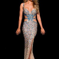 Jasz Couture Dress 4109C at Peaches Boutique