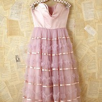 Free People Vintage Strapless Tulle Dress