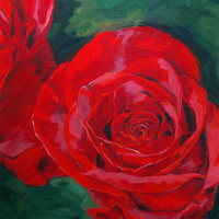 Rose Painting, Giclee On Canvas Pri.. on Luulla