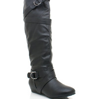 leather-riding-boots BLACK - GoJane.com