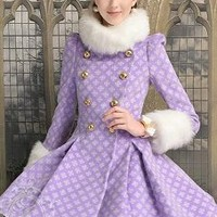 Double-Breasted Star Coat/Dress