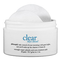 Sephora: Clear Days Ahead™ Overnight Repair Salicylic Acid Acne Treatment Pads : face-treatments-serums-skincare