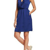 Women's Ruffled Crepe Dresses | Old Navy