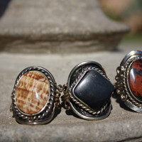 Autumn shade Alpaca ring set. SALE