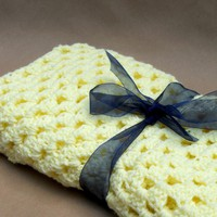 Crochet Baby Blanket Yellow on Luulla