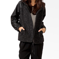 Hooded Bouclé Jacket