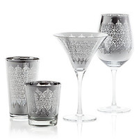Z Gallerie - Puccini Glassware - Silver Set of 4