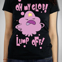 Adventure Time &#x27;Oh My Glob! Lump Off!&#x27; Junior Fitted Tee