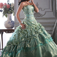Strapless Ball Gowns, House of Wu Strapless Prom Gowns- PromGirl:
