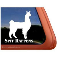 Spit Happens Llama Window Decal Sticker : Amazon.com : Automotive