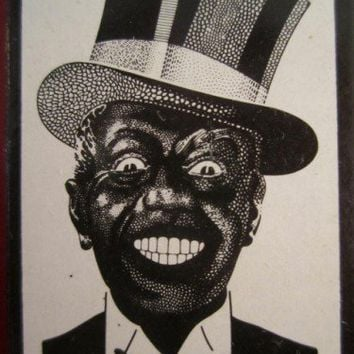 Collectible Vintage Black Americana DARKIE Toothpaste Box 30s Rare