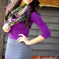 Flirting With A Fashionista Top: Purple | Hope's