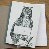 Felt | Vintage Owl Large Notebook