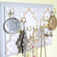 Key Holder / Jewelry Organizer, Shabby Chic, Hooks, Gold
