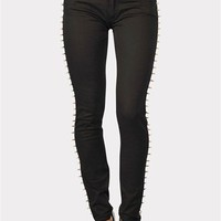 Spike Lined Skinnies - Black at Necessary Clothing