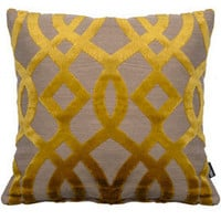 Heal's | Heal's Du Barry Trellis Yellow Cushion By Osborne & Little > Cushions