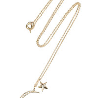 Anita Ko|Moon &amp; Star 14-karat gold diamond necklace|NET-A-PORTER.COM