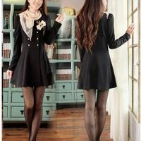 Beautiful Korean Style Slim Long Sleeve Dress: tidestore.com