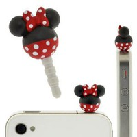 Plug Apli Disney Character Earphone Jack Accessory (Minnie Mouse)