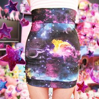 Candy Galaxy Highwaist Skirt - Made to Order