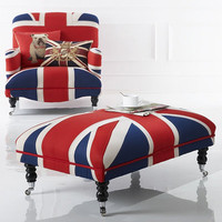 Union Jack stool coffee table