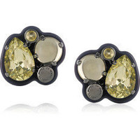 Marc by Marc Jacobs | Gemma glass crystal earrings | NET-A-PORTER.COM