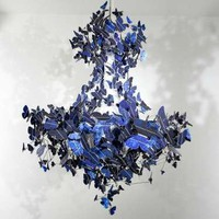 Solar-Powered Cobalt Lights - The Jeroen Verhoeven &#x27;Butterfly Chandelier&#x27; is Stylish and Sustainable (GALLERY)