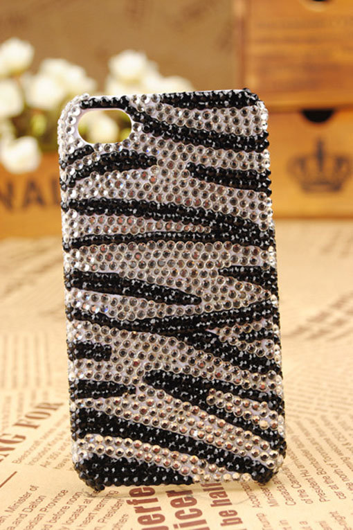 iPhone4 3GS Zebra Crystals Shell Skin Cover - GULLEITRUSTMART.COM