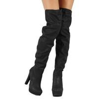 Amazon.com: Qupid Theatre-15 Over Knee High Boots: Shoes