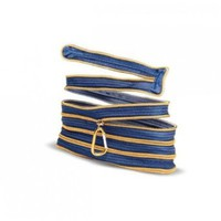 Amazon.com: Zipit Denim Pouch Denim & Gold: Clothing