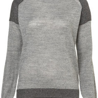 Knitted Shimmer Shoulder Sweat - Knitwear  - Clothing