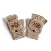Fuzzy Snowflake Gloves - 2020AVE