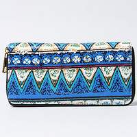 The Tripped Out Tribal Wallet in Blue